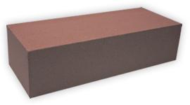 Кирпич лицевой силикатный одинарный полнотелый, цвет коричневый (SIMAT)
