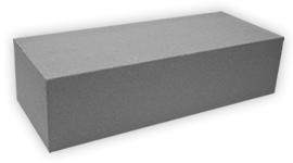 Кирпич лицевой силикатный одинарный полнотелый, цвет серый (SIMAT)
