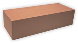 Кирпич лицевой силикатный одинарный полнотелый, цвет персик (SIMAT)