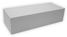 Кирпич лицевой силикатный утолщенный полнотелый, цвет белый неокрашенный (SIMAT)