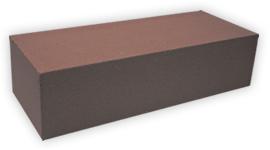 Кирпич лицевой силикатный одинарный полнотелый, цвет шоколад (SIMAT)