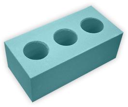 Кирпич лицевой силикатный утолщенный пустотелый, цвет мятно-зеленый (SIMAT)