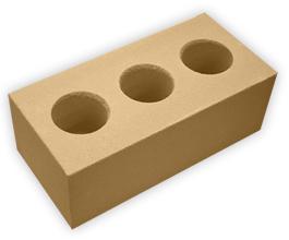 Кирпич лицевой силикатный утолщенный пустотелый, цвет желтый (SIMAT)