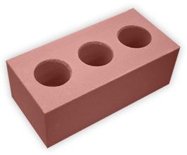 Кирпич лицевой силикатный утолщенный пустотелый, цвет красный (SIMAT)