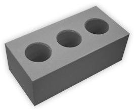 Кирпич лицевой силикатный утолщенный пустотелый, цвет серый (SIMAT)