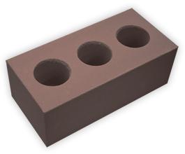 Кирпич лицевой силикатный утолщенный пустотелый, цвет шоколад (SIMAT)