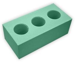 Кирпич лицевой силикатный утолщенный пустотелый, цвет изумрудно-зеленый (SIMAT)