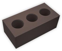 Кирпич лицевой силикатный утолщенный пустотелый, цвет горький шоколад (SIMAT)