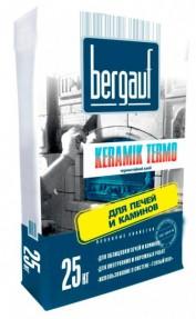 Клей для облицовки печей и каминов Бергауф Керамик Термо (Bergauf Keramik Termo), 25кг