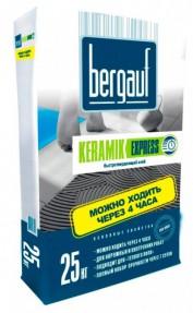 Клей для плитки и керамогранита Бергауф Керамик Экспресс (Bergauf Keramik Express) быстротвердеющий, 25кг