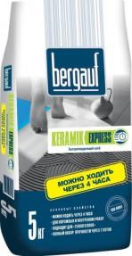 Клей для плитки и керамогранита Бергауф Керамик Экспресс (Bergauf Keramik Express) быстротвердеющий, 5кг