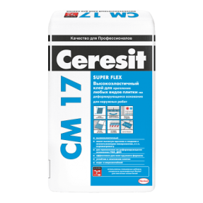 Высокоэластичный клей для плитки Церезит СМ17 Супер Флекс (Ceresit CM17 Super Flex), 25кг