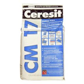 Высокоэластичный клей для плитки Церезит СМ17 Супер Флекс (Ceresit CM17 Super Flex), 5кг