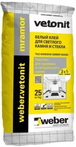 Клей для плитки и бассейнов Вебер.Ветонит Мрамор (weber.vetonit mramor), белый, 25кг