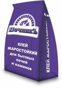 Клей жаростойкий для бытовых печей и каминов Печникъ, 3кг