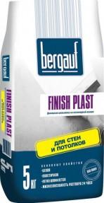 Шпаклевка финишная полимерная Бергауф Финиш Пласт (Bergauf Finish Plast) белая, 5кг