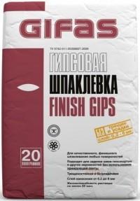 Шпаклевка финишная Гифас Финиш Гипс (Gifas Finish Gips), 20кг