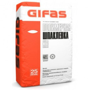 Шпаклевка полимерная Гифас КР (Gifas KR) белая, 25кг