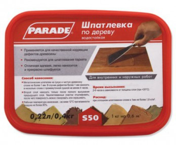 Шпаклевка по дереву Парад (Parade) S50 дуб, 0,4кг