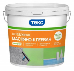 Шпатлевка Масляно-клеевая УНИВЕРСАЛ 5кг ТЕКС (1шт/уп)