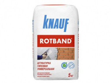 Штукатурка гипсовая универсальная Кнауф Ротбанд (Knauf Rotband), 5кг