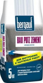 Штукатурка Бергауф Бау Путц Цемент (Bergauf Bau Putz Zement) водо- и морозостойкая, 5кг