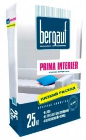 Штукатурка для окончательного выравнивания Бергауф Прима Интерьер (Bergauf Prima Interier) белая, 25кг