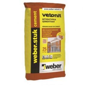 Штукатурка цементная Вебер.Штук Цемент (weber.stuk Cement) фасадная, 25кг