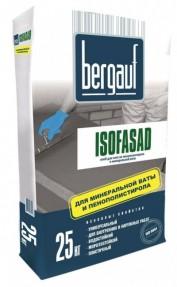 Клей Бергауф Изофасад Зима (Bergauf Isofasad Winter) для монтажа пенополистирола и минеральной ваты для малоэтажного строительства, 25кг