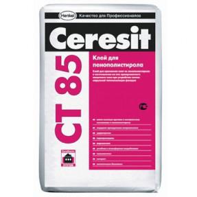Штукатурно-клеевая смесь Церезит (Ceresit) СТ85 ЗИМА для пенополистирола, 25кг