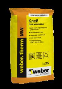 Клей Вебер.Терм МВ (weber.therm MW) для монтажа минеральной ваты, 25кг