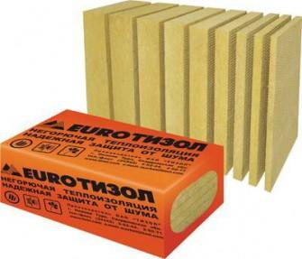 Плиты теплоизоляционые ЕвроБлок 45-65 (1000*500*50; 12шт/уп,0,3м3/уп)