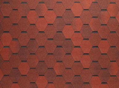 Черепица Нордленд Нордик красный с отливом (3,45м2/уп)