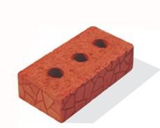 Кирпич строительный полнотелый одинарный с тех.пустотами М150-200 (РКЗ)