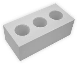 Кирпич лицевой силикатный утолщенный пустотелый, цвет белый неокрашенный (SIMAT)