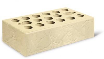 Кирпич лицевой керамический одинарный пустотелый бумага, цвет пшеничное лето (Kerma)