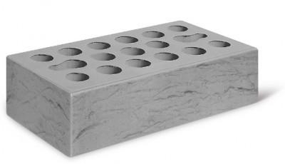 Кирпич лицевой керамический одинарный пустотелый рустик, цвет серебро (Kerma)