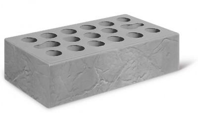 Кирпич лицевой керамический одинарный пустотелый бумага, цвет серебро (Kerma)