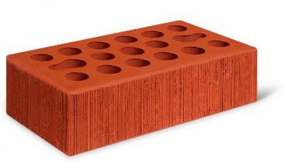 Кирпич лицевой керамический одинарный пустотелый бархат, цвет красный (Kerma)