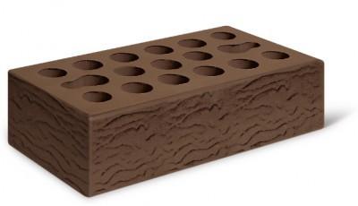 Кирпич лицевой керамический одинарный пустотелый риф, цвет терракот (Kerma)