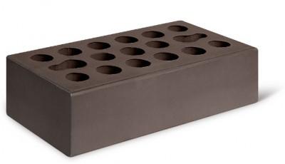 Кирпич лицевой керамический одинарный пустотелый гладкий, цвет шоколад (Kerma)