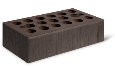 Кирпич лицевой керамический одинарный пустотелый бархат, цвет шоколад (Kerma)