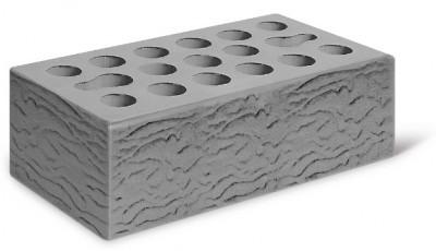 Кирпич лицевой керамический утолщенный пустотелый риф, цвет серебро (Kerma)