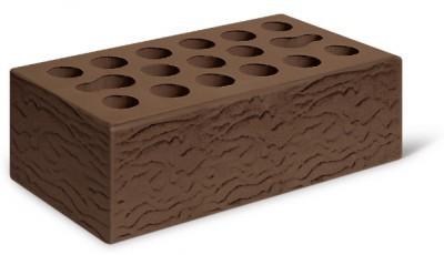 Кирпич лицевой керамический утолщенный пустотелый риф, цвет терракот (Kerma)